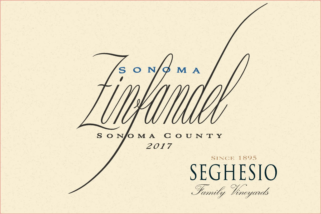 Seghesio Sonoma Zinfandel 2017