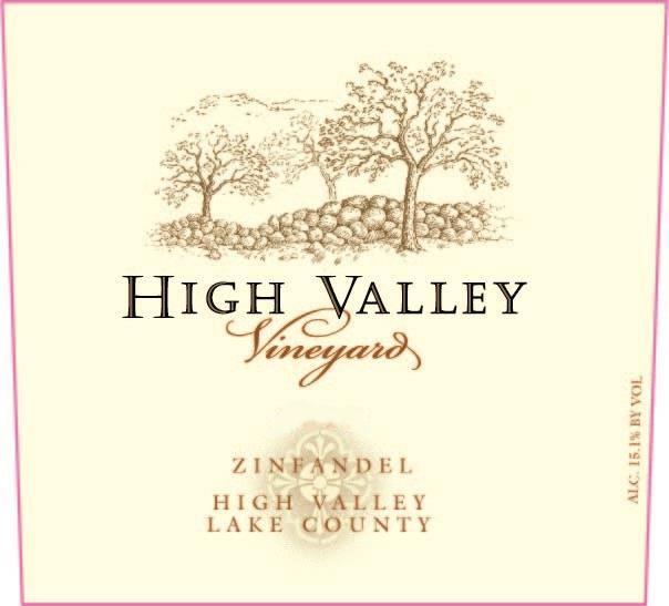High Valley Vineyards Zinfandel 2017