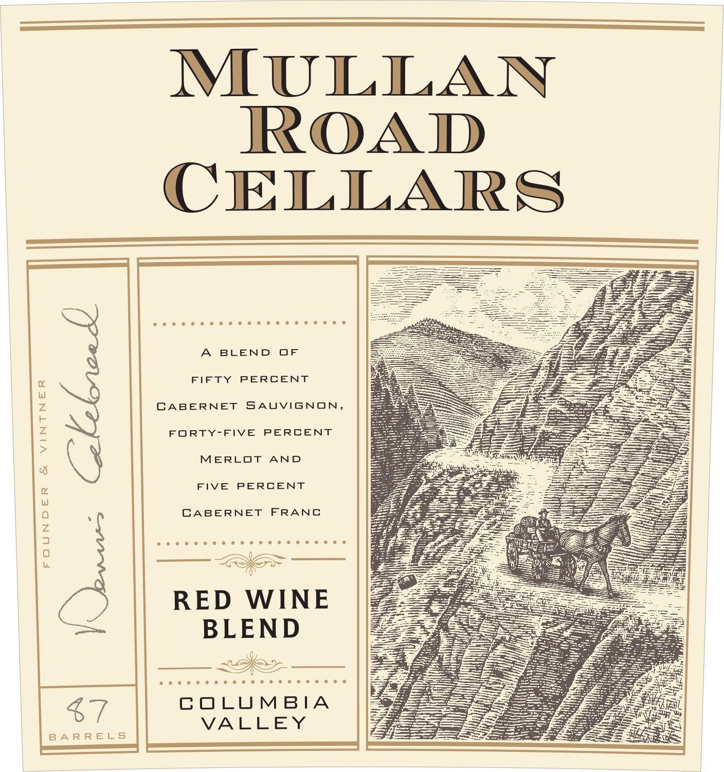 Mullan Road Cellars Red Blend 2013