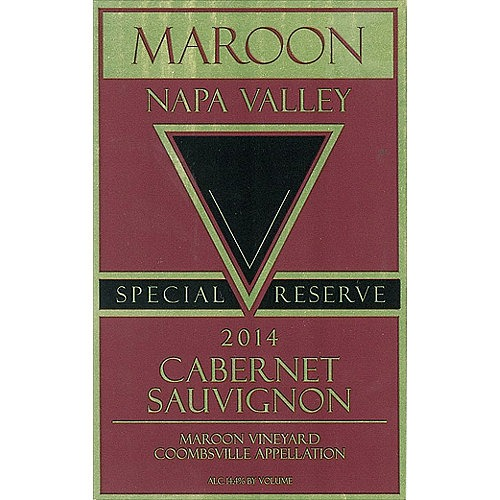 Maroon Cabernet Sauvignon Special Reserve, Maroon Vyd., Coombsville, Napa Valley 2014