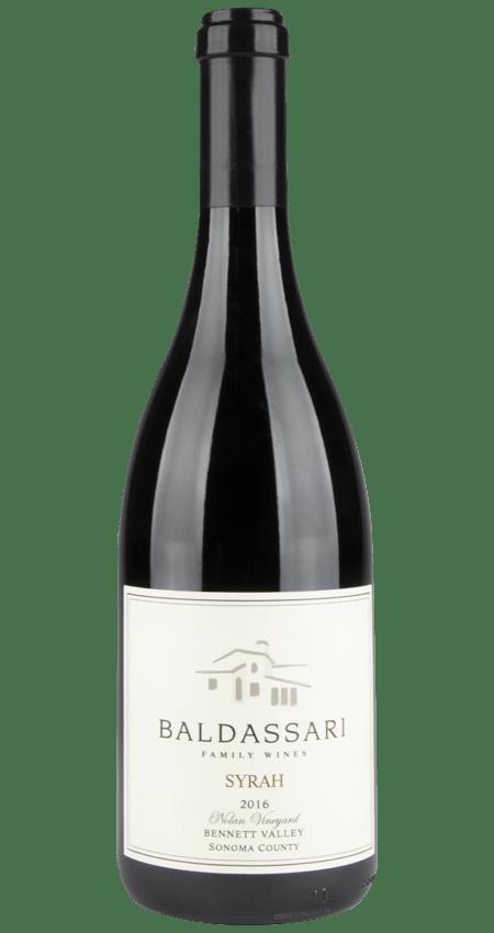 92 Pt. Baldassari Family Wines Nolan Vineyard Syrah Bennett Valley 2016