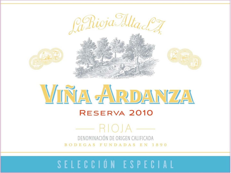 2010 La Rioja Alta Vina Ardanza Reserva Seleccion Especial