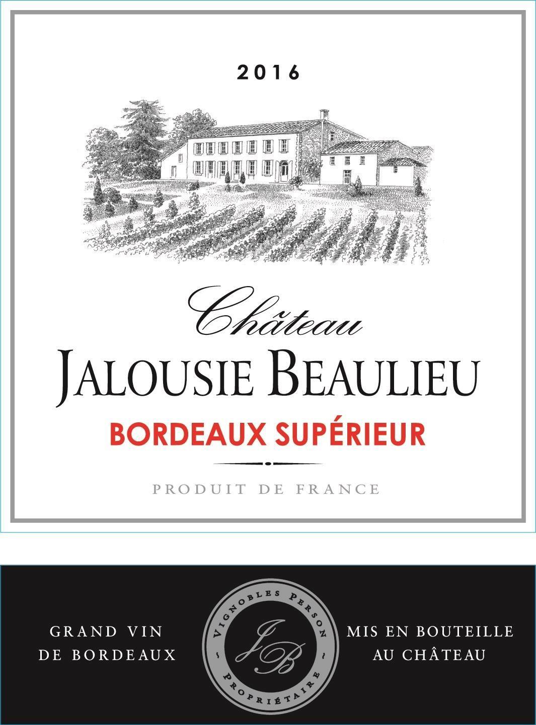 Chateau Jalousie Beaulieu Bordeaux Superieur 2016