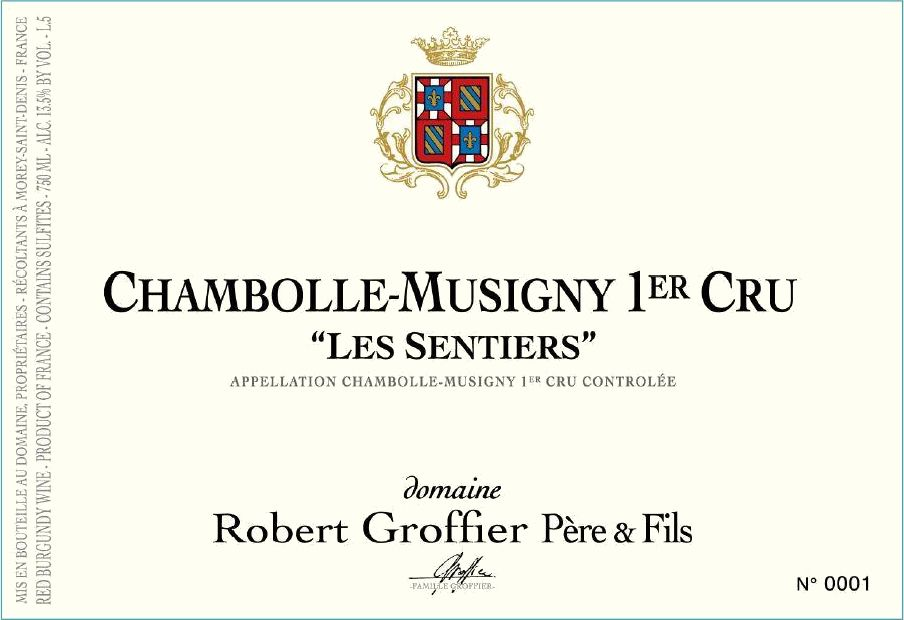 Domaine Robert Groffier Pere & Fils Chambolle-Musigny Les Sentiers Premier Cru 2017