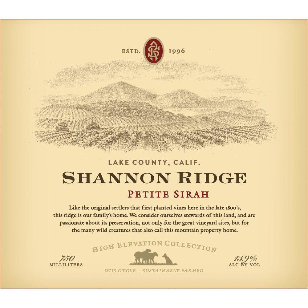 Shannon Ridge High Elevation Petite Sirah 2018
