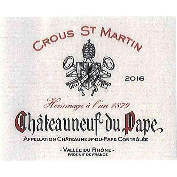 Crous St Martin Chateauneuf-du-Pape 2017