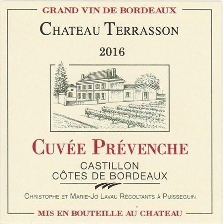 Chateau Terrasson Cuvee Prevenche 2016