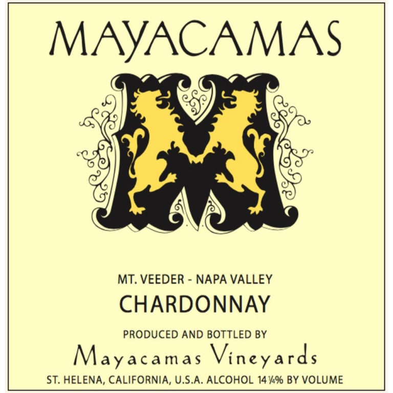 2018 Mayacamas Mt Veeder Chardonnay (96WE & Cellar Selection)