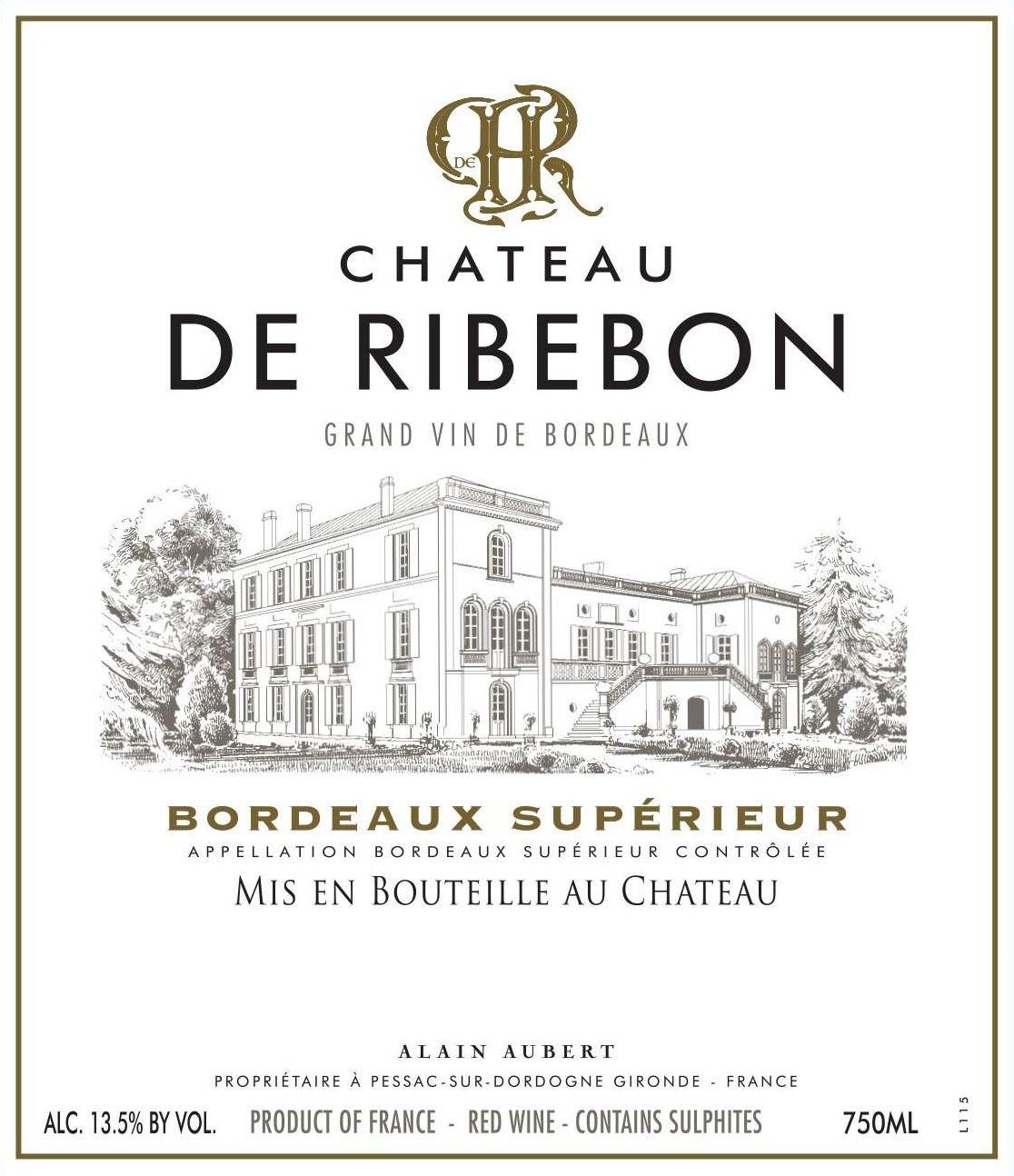 Chateau de Ribebon Bordeaux Superieur 2016