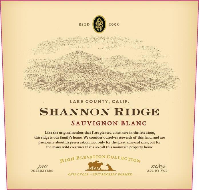 Shannon Ridge High Elevation Sauvignon Blanc 2019