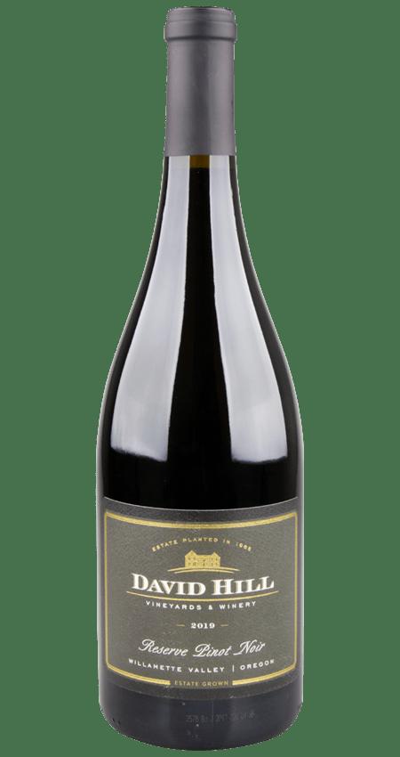 Willamette Valley Pinot Noir Reserve David Hill Vineyards 2019