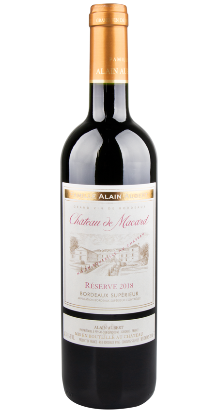 92 Pt. Bordeaux Supérieur Réserve Château de Macard 2018