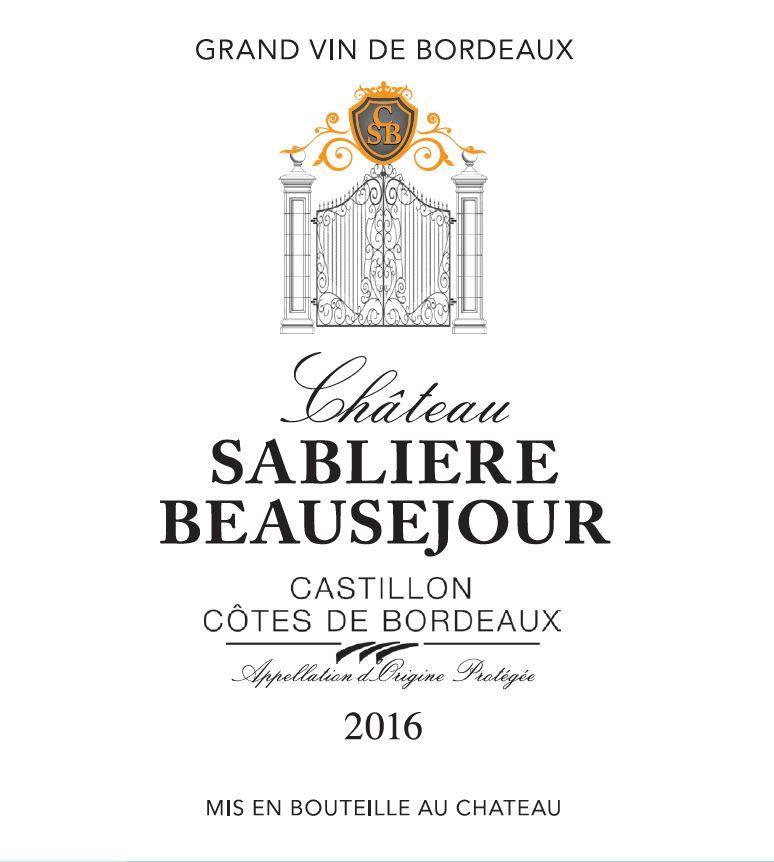 Chateau Sabliere Beausejour 2016