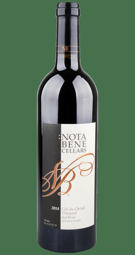 Nota Bene Ciel du Cheval Vineyard Red Mountain Red Blend 2014
