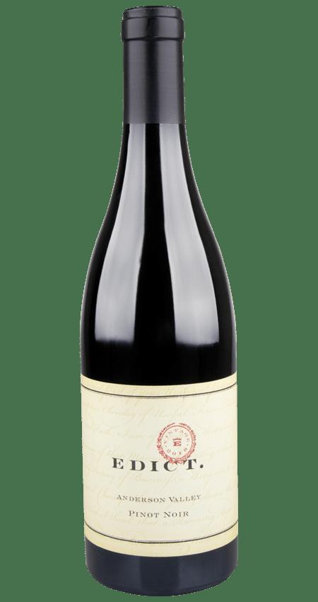 93 Pt. Edict Wines Anderson Valley Pinot Noir 2018