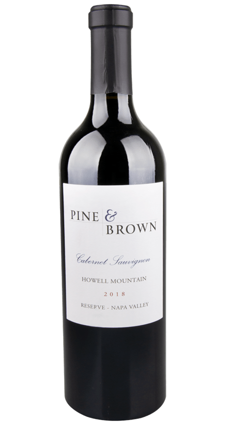 Pine and Brown Reserve Howell Mountain Cabernet Sauvignon 2018
