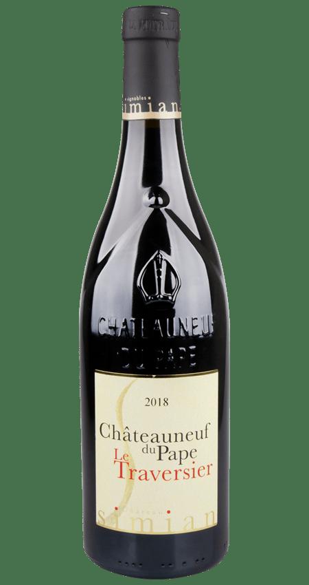 92 Pt. Châteauneuf du Pape 2018 Château Simian Le Traversier