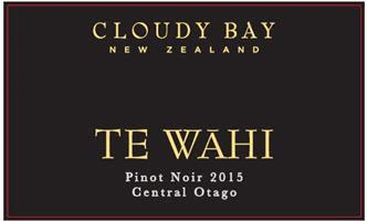 Cloudy Bay Te Wahi Pinot Noir 2015