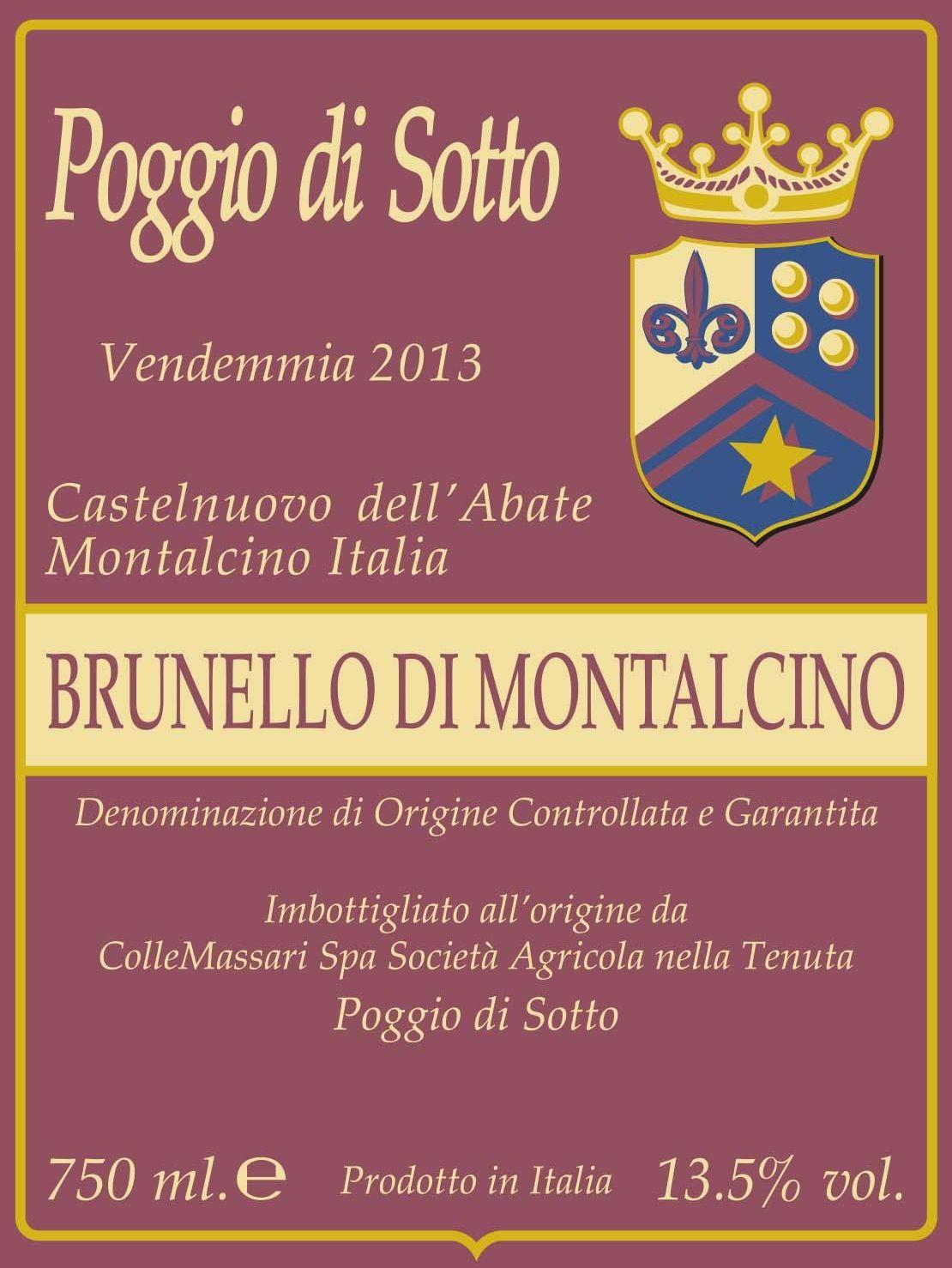 Poggio di Sotto Brunello di Montalcino 2013