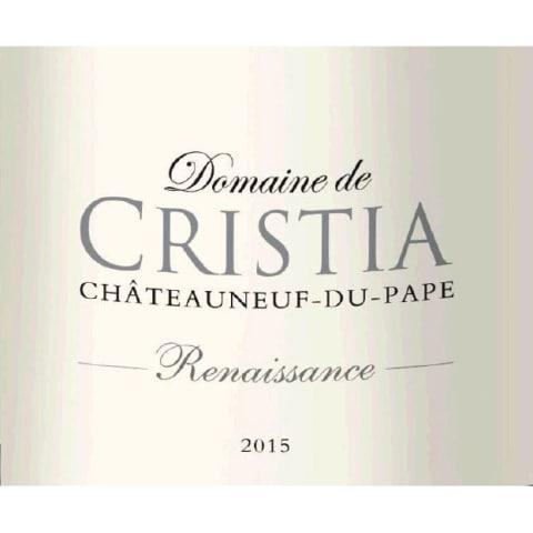 2015 Domaine de Cristia Chateauneuf-du-Pape Cuvee Renaissance
