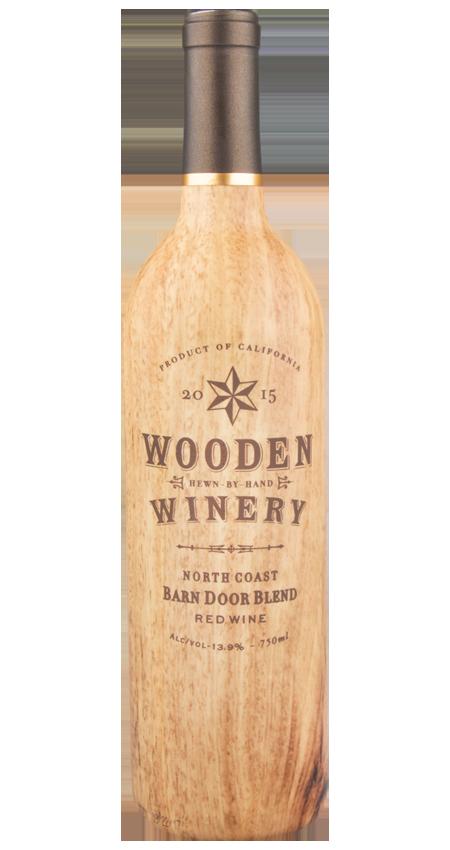 Wooden Winery Barn Door Red Blend North Coast 2015