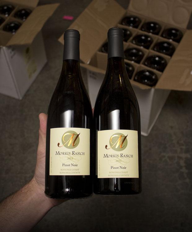 Morris Ranch Pinot Noir 2 bottle Vertical (2014 & 2015)