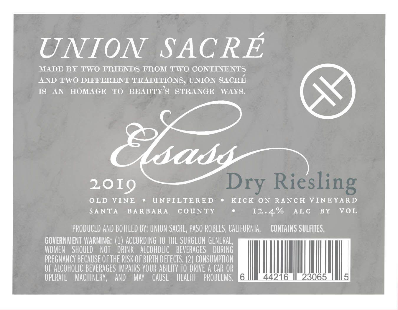 Union Sacre Elsass Riesling 2019