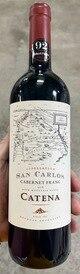 2018 Catena 'San Carlos' Cabernet Franc, Mendoza (92RP)