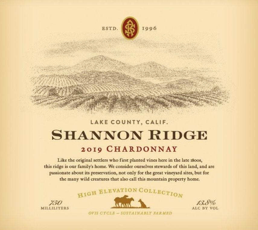 Shannon Ridge High Elevation Chardonnay 2019