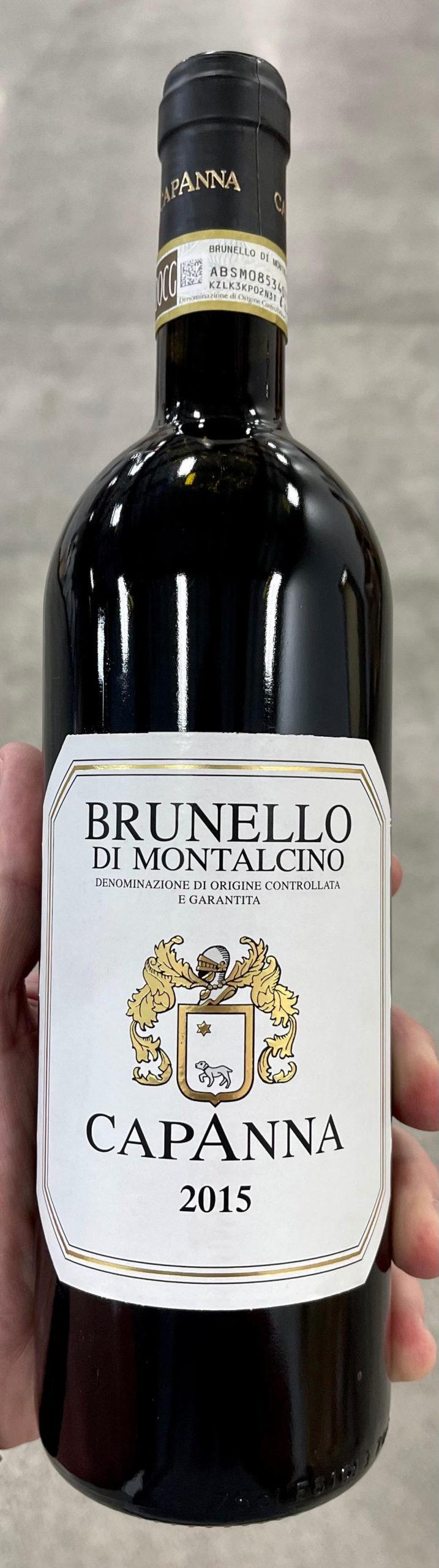 2015 Capanna Brunello Di Montalcino (96JS/95JD)