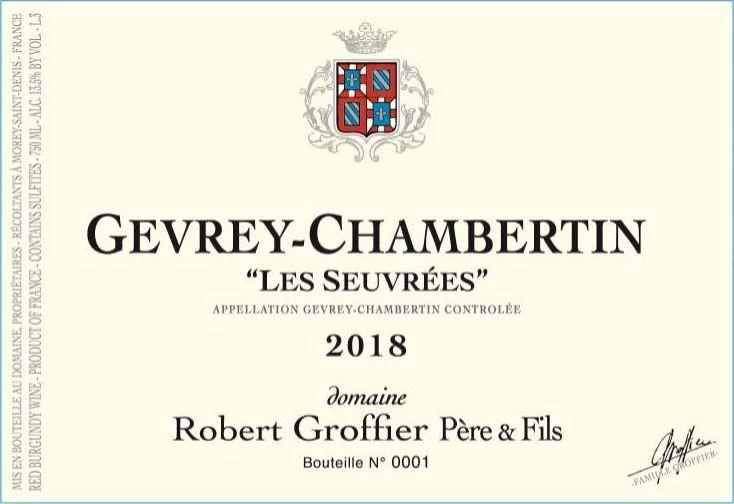 Domaine Robert Groffier Gevrey-Chambertin Les Seuvrees 2018