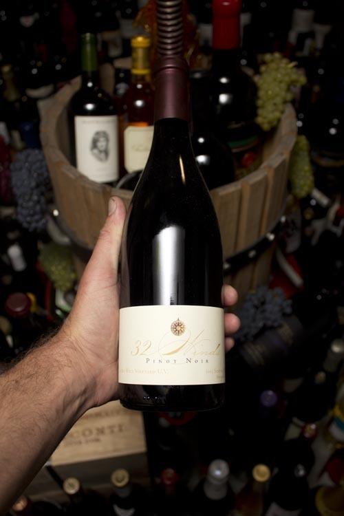 32 Winds Pinot Noir Sonoma Coast Lucky well UV Vineyard 2015