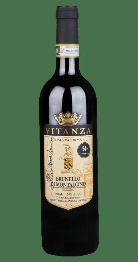 94 Pt. Vitanza Brunello Riserva Firma 2015